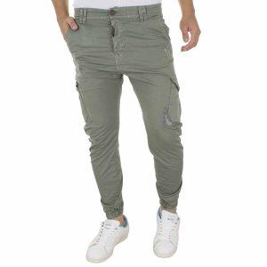 Cargo Παντελόνι με Λάστιχα Back2Jeans M64 Χακί