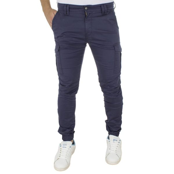 Cargo Παντελόνι με Λάστιχα COVER Jeans CESAR 7455 Navy