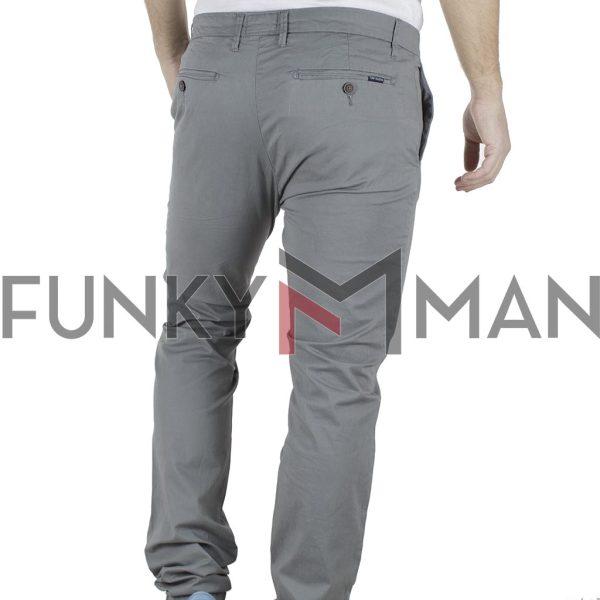 Παντελόνι Casual Chinos FUNKY BUDDHA FBM002-02119 Γκρι
