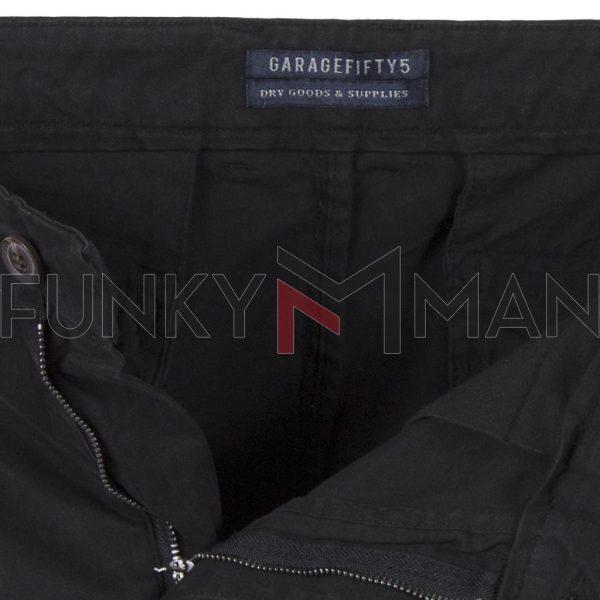 Παντελόνι Casual Chinos Garage55 GAM201-02119 Μαύρο