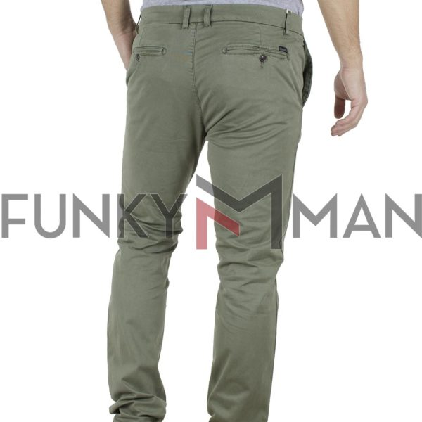 Παντελόνι Casual Chinos Garage55 GAM201-02119 Χακί