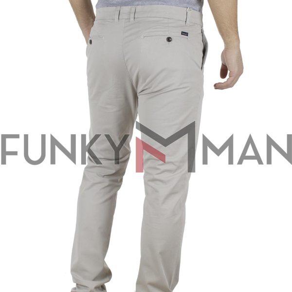Παντελόνι Casual Chinos Garage55 GAM201-02119 ανοιχτό Γκρι