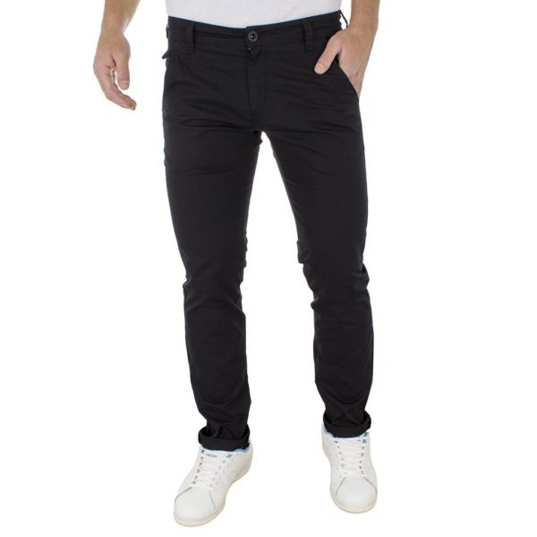 Chinos Παντελόνι COVER CHILLY 3373 Μαύρο
