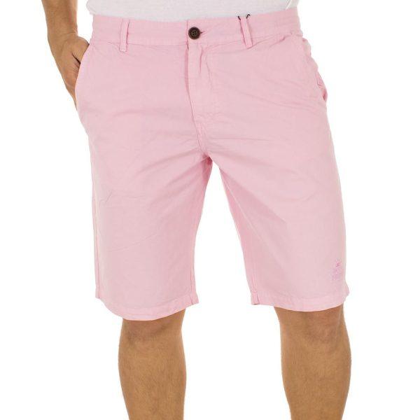 Βαμβακερή Βερμούδα Chinos VICTORY FIREBALL Ροζ