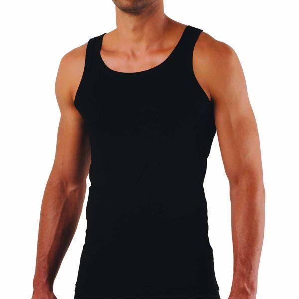 Φανέλα Κλασσική με Λεπτή Τιράντα APPLE APP-0310150 Μαύρο