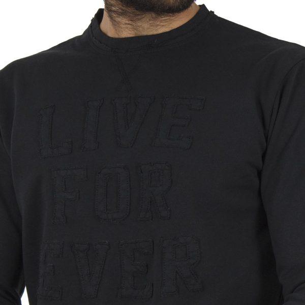 Μπλούζα Φούτερ BATTERY 071000582 Μαύρο