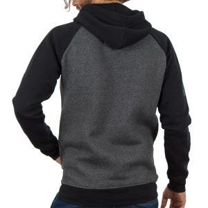 Μπλούζα Φούτερ με Κουκούλα HOODIE DOUBLE MTOP-31 σκούρο Γκρι