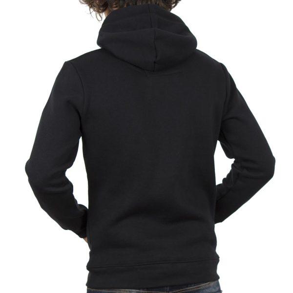 Μπλούζα Φούτερ με Κουκούλα HOODIE DOUBLE MTOP-30 Μαύρο