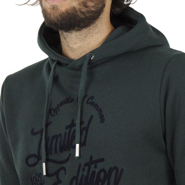 Μπλούζα Φούτερ με Κουκούλα HOODIE DOUBLE MTOP-30 σκούρο Πράσινο