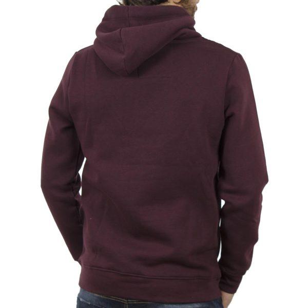 Μπλούζα Φούτερ με Κουκούλα HOODIE DOUBLE MTOP-30 Wine Red