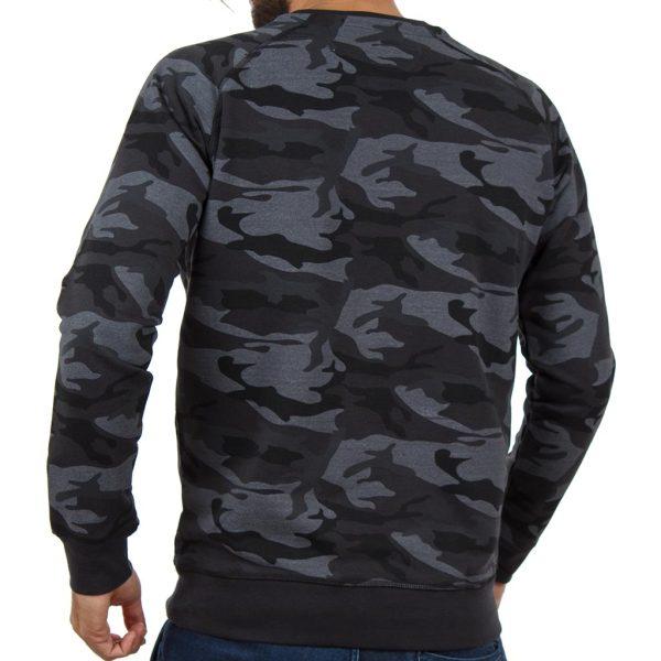 Μπλούζα Φούτερ Terry Fleece DOUBLE MTOP-35 Γκρι σκούρο παραλλαγής