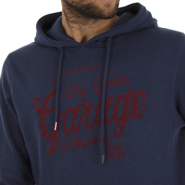 Μπλούζα Φούτερ με Κουκούλα HOODIE Garage55 GAM204-06218 Μπλε