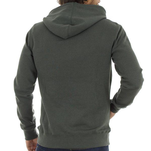 Μπλούζα Φούτερ με Κουκούλα HOODIE Garage55 GAM205-06218 Pesto