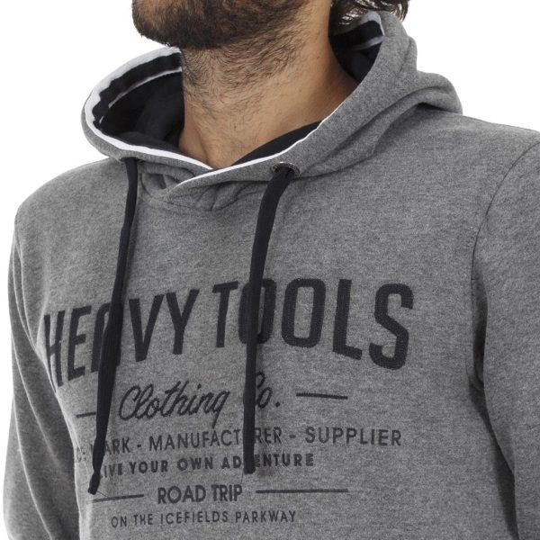 Φούτερ Μπλούζα με Κουκούλα HEAVY TOOLS A3W18214FT Frost σκούρο Γκρι