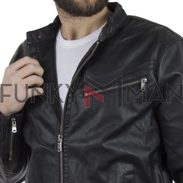 Jacket Τεχνόδερμα BLEND 20708042 Μαύρο