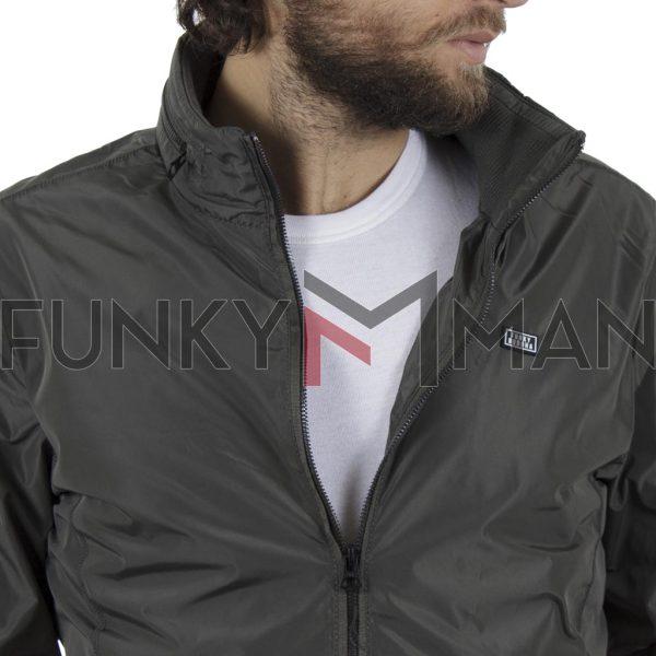 Ελαφρύ Αδιάβροχο Μπουφάν Jacket FUNKY BUDDHA FBM021-01119 Χακί
