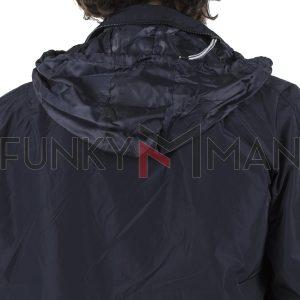Ελαφρύ Αδιάβροχο Μπουφάν Jacket FUNKY BUDDHA FBM021-01119 Navy