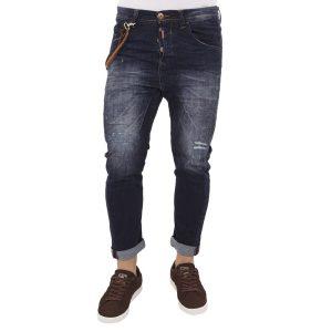 Τζιν Buggy Παντελόνι Damaged Jeans D23-D2 Winter Μπλε