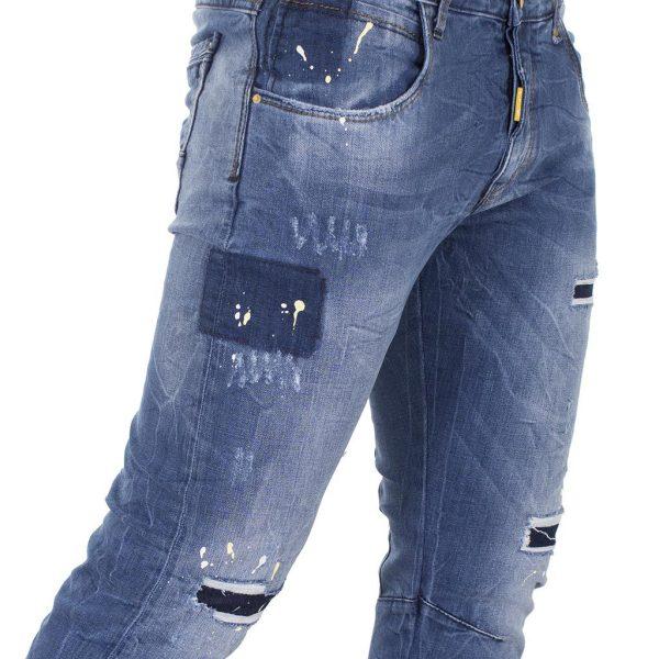 Jean Παντελόνι Back2jeans M24 slim Μπλε