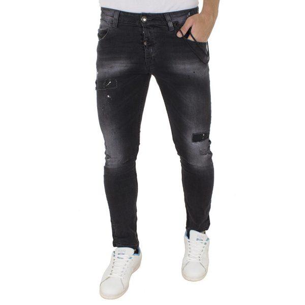 Τζιν Παντελόνι Back2jeans M38 slim Μαύρο