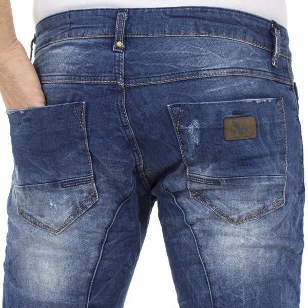 Τζιν Παντελόνι Back2jeans M4 Blue Μπλε