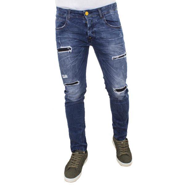 Τζιν Παντελόνι Back2jeans M5 Blue Μπλε