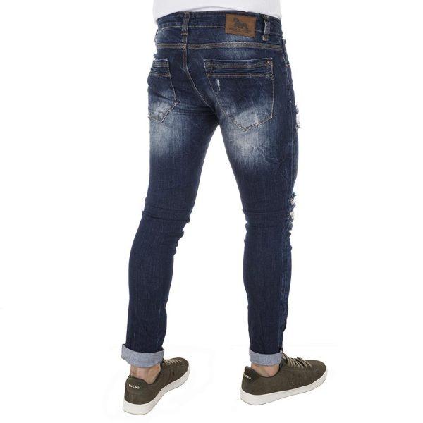Τζιν Παντελόνι Back2Jeans Slim T13 Blue Μπλε