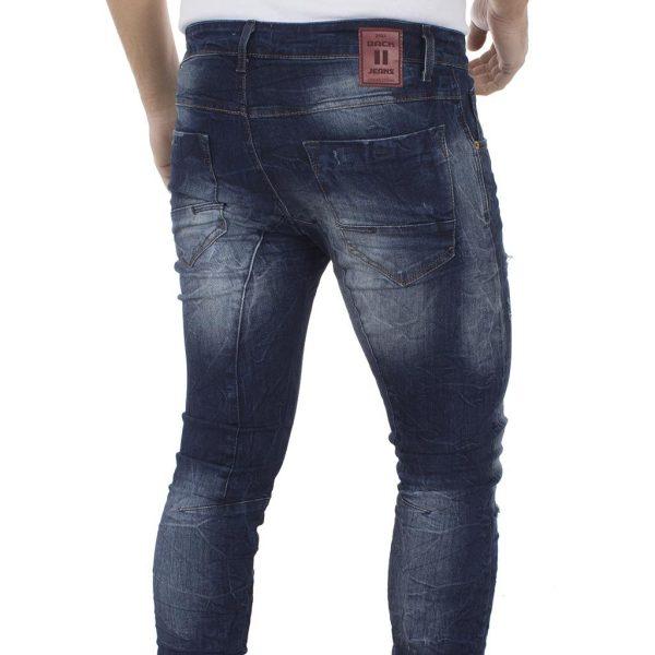 Τζιν Παντελόνι Back2Jeans Slim T12 Blue Μπλε