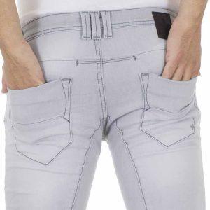 Τζιν Παντελόνι DAMAGED Jeans D5A slim basic ανοιχτό Γκρι