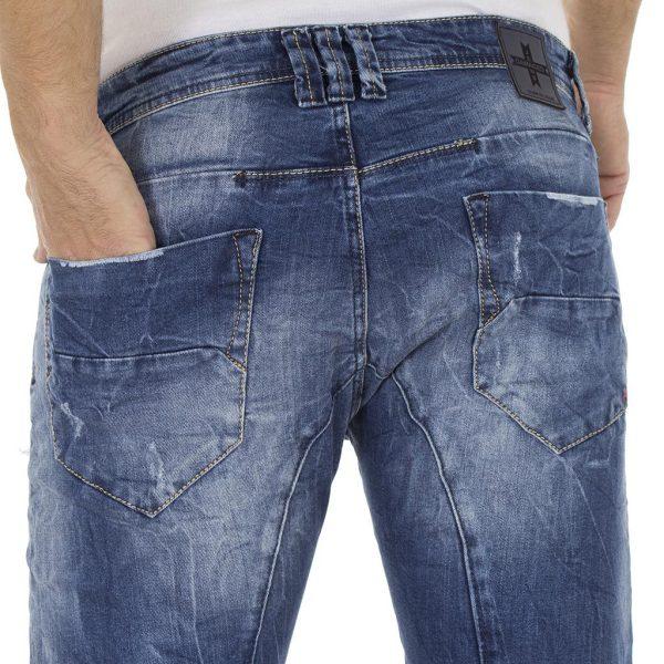 Τζιν Παντελόνι DAMAGED Jeans D5 slim basic Μπλε
