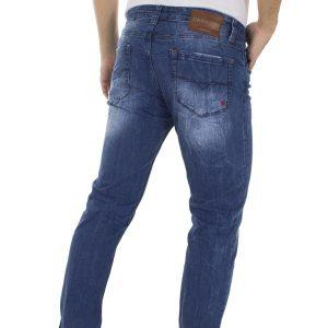 Τζιν Παντελόνι DAMAGED Jeans D76D regular Μπλε