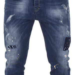 Τζιν Παντελόνι DAMAGED Jeans D90A twist Μπλε