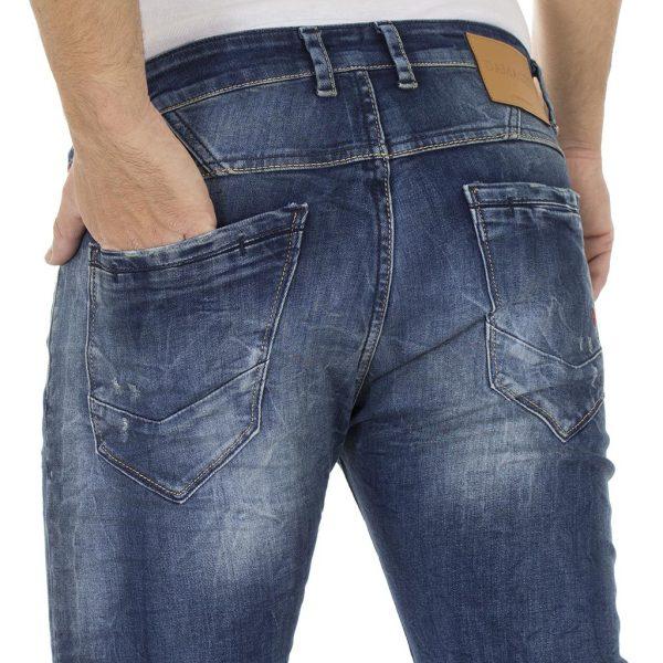 Τζιν Παντελόνι DAMAGED Jeans D94A slim Μπλε