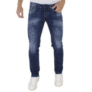 Τζιν Παντελόνι DAMAGED Jeans D96 regular Μπλε