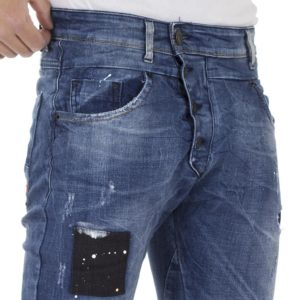 Τζιν Παντελόνι DAMAGED Jeans D97A jogging Μπλε