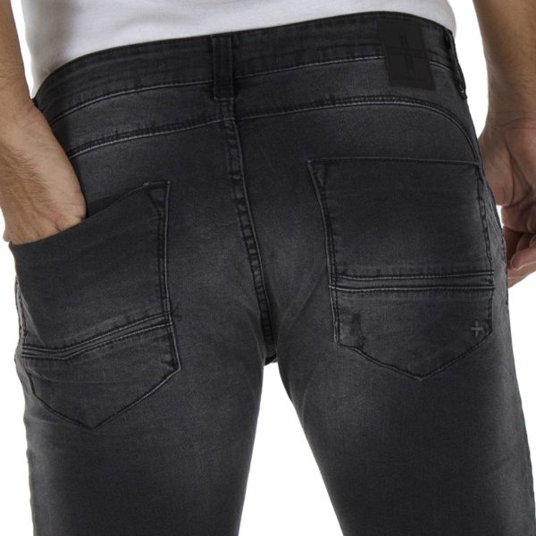 Jean Παντελόνι Slim Fit DAMAGED jeans D7 Μαύρο