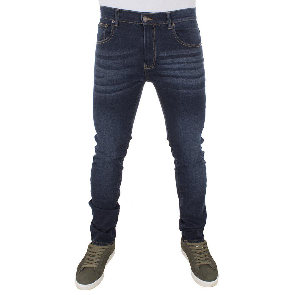 Τζιν Παντελόνι Straight-Jeans DOUBLE MJP-21 σκούρο Μπλε