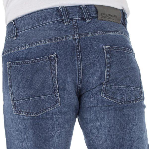 Τζιν Παντελόνι Straight-Jeans DOUBLE MJP-22 ανοιχτό Μπλε