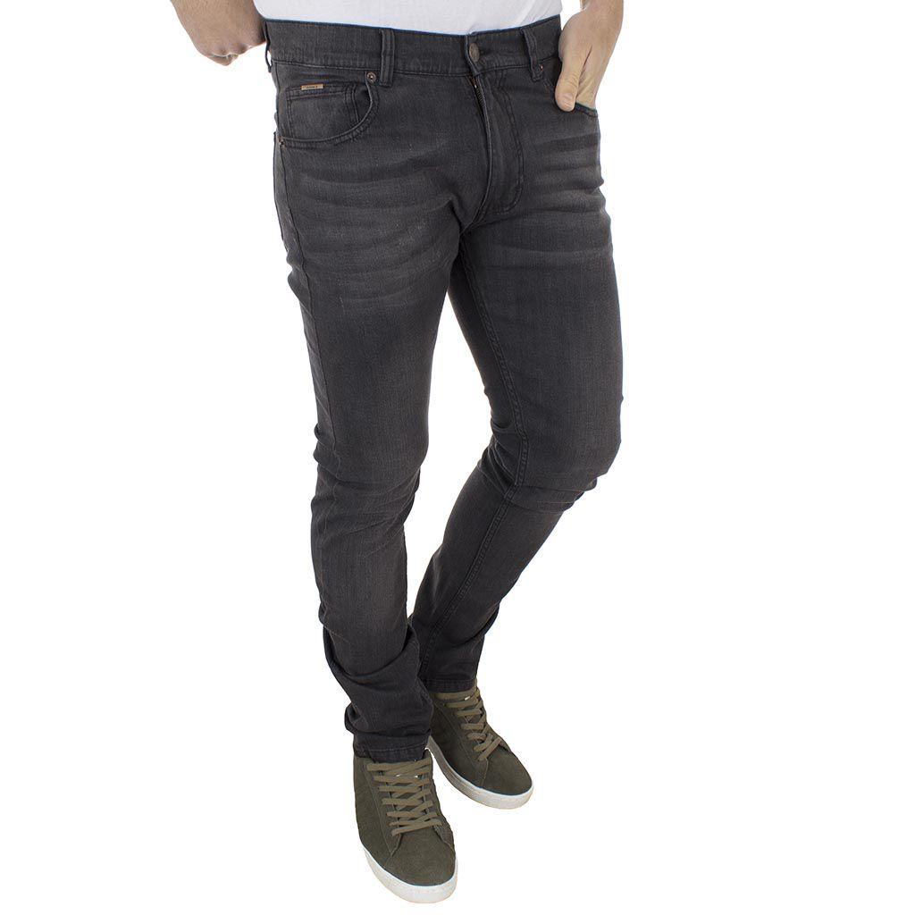 1559408ac0d4 Τζιν Παντελόνι Straight-Jeans DOUBLE MJP-23 Γκρι