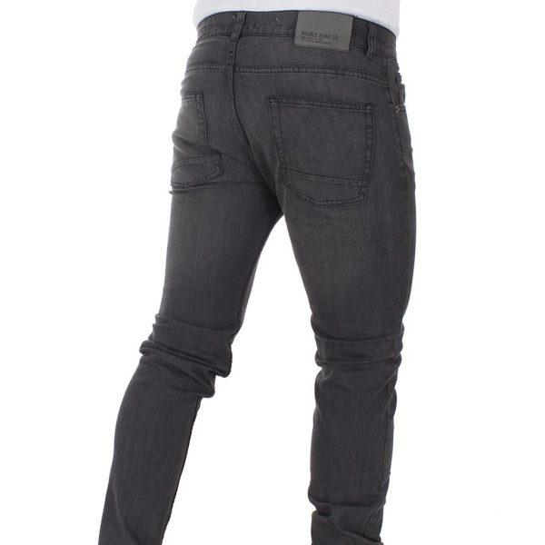 Τζιν Παντελόνι Straight-Jeans DOUBLE MJP-23 Γκρι