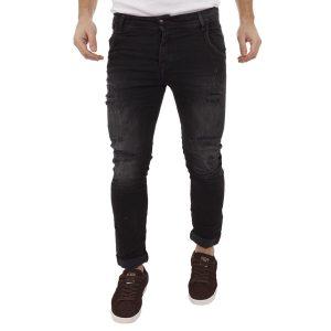 Τζιν Παντελόνι Back2Jeans T16 Slim Black Μαύρο