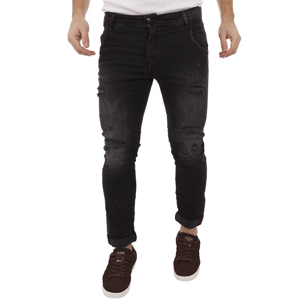 f15a27e1b088 Τζιν Παντελόνι Back2Jeans T16 Slim Black Μαύρο