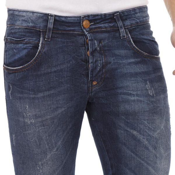 Τζιν Παντελόνι Back2Jeans T19 Slim Blue Μπλε