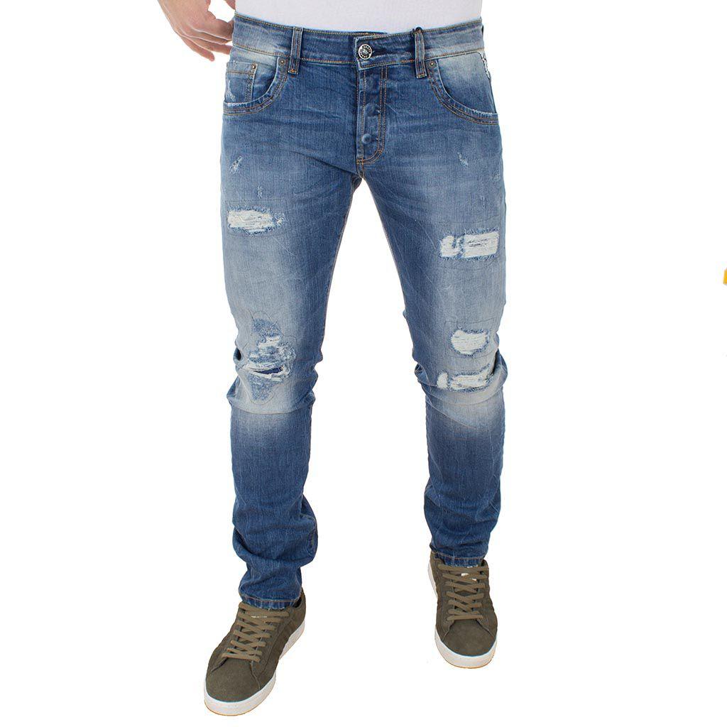 Τζιν Παντελόνι Shaft Jeans 5682 Μπλε