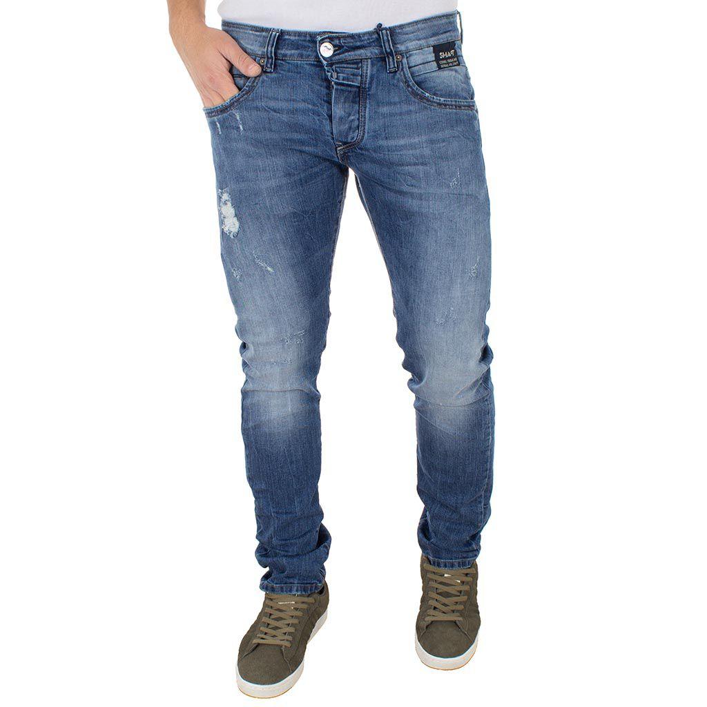 Τζιν Παντελόνι Shaft Jeans 5685 Μπλε