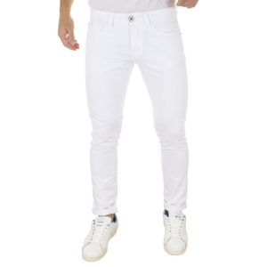 Τζιν Παντελόνι DAMAGED Jeans boyfriend D70 Λευκό