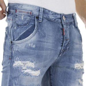 Jean Βερμούδα DAMAGED Jeans DB2 Μπλε