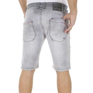 Jean Βερμούδα DAMAGED Jeans DB2N Γκρι