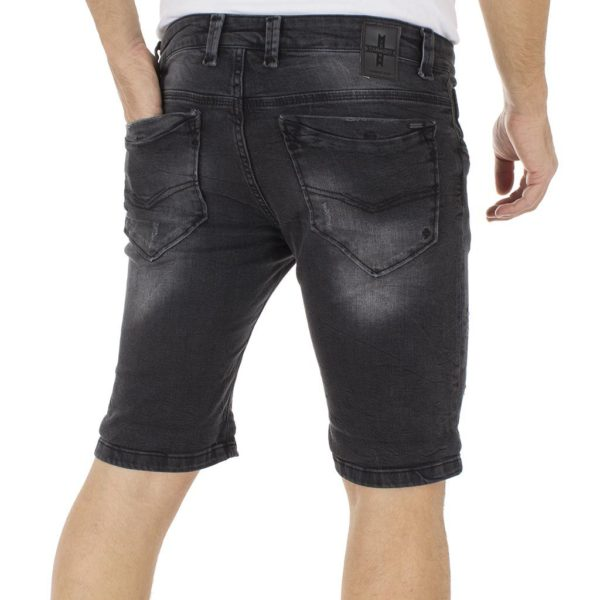 Jean Βερμούδα DAMAGED Jeans DB5 Μαύρο