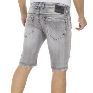 Jean Βερμούδα DAMAGED Jeans DB5N Γκρι